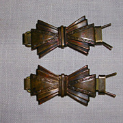 Art Deco Brass Arts & Crafts Hair Clips/Barrettes