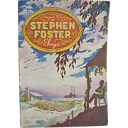 1940 Stephen Foster Music Song Book Treasure Chest Pub. - Red Tag Sale Item