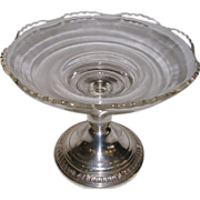 Sterling Silver and Crystal Candy Dish Frank M.Whiting New Martinsville Glass