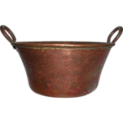 Primitive Hand Forged Copper Melting Pot