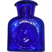 Blenko Art Glass Cobalt Blue Decanter Pitcher