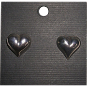 Sterling Silver Puffy Heart Post Earrings