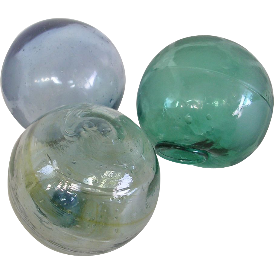 Genuine japanese blown glass fishing floats sold on ruby lane for Japanese fishing floats