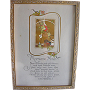 Framed Religious Poem Motto Print Mother Mine