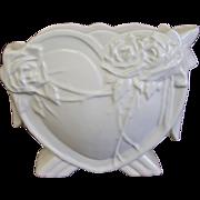 1940's McCoy Matte White Heart Rose Vase