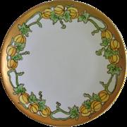 Thomas Bavarian Sevres Hand Painted Pumpkin Plate