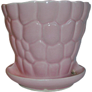Brush McCoy Pottery Pink Flower Pot #330