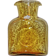 Vintage Blenko Honey Amber Classic Water Carafe