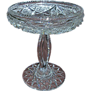 Incredible American Brilliant Cut Crystal Compote