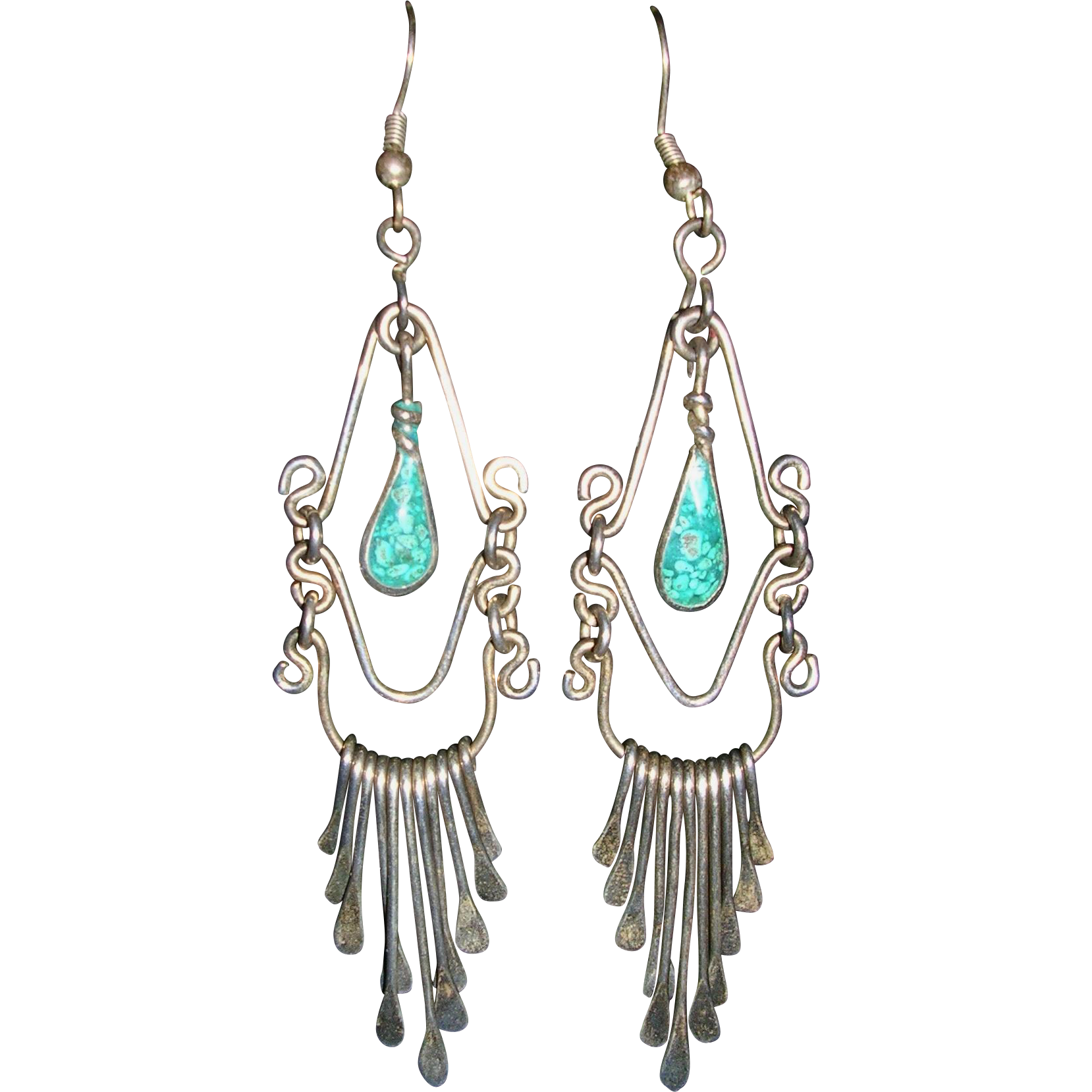 1960's BoHo Sterling Silver Native American Hand Made ...