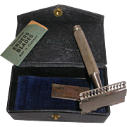1920's Mirak Safety Razor with Blades and Original case