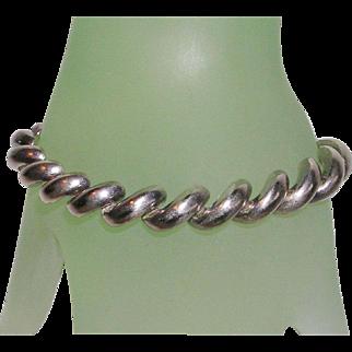Sterling Silver Italian San Marco Bracelet 10 MM Wide