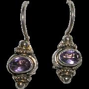 Petite Sterling Silver Amethyst Earrings