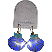 Laurel Burch 12 Kt GF Sea Shell Earrings NOS