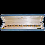 Jewels By Crown Trifari September Sapphire Rhinestone Bracelet