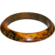 Bakelite Swirl Marbled End of Day Bangle