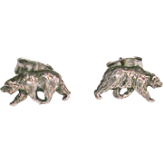 Petite Sterling Silver Bear Earrings