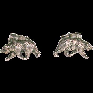 Petite Sterling Silver Bear Earrings