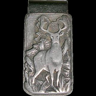 Pewter Deer/Elk Design Money Clip