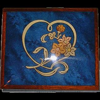 Italian Marquetry Laquered Music Box