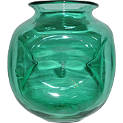 Blenko Art Glass Teal Dimple Vase