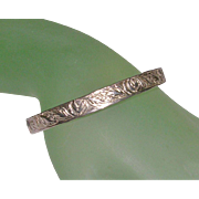 Sterling Silver Taxco Mexico Roses Bangle