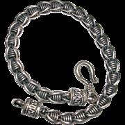 Unique Bali Style Sterling Silver Link Bracelet