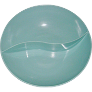 Retro Beachy Blue Melmac Divided Serving Dish
