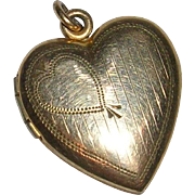 Vintage 12 Kt Gold Filled Heart Locket