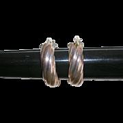 Sterling Silver Classic Hoop Earrings