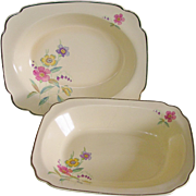 Homer Laughlin 1930's Ohio Pattern Century Design Serving Dishes