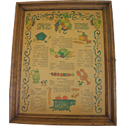 Vintage Three Mountaineers Cabinet Spice Rack 1970