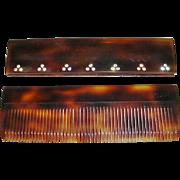 Faux Tortoise Shell Pocket Comb Hand Made Austria