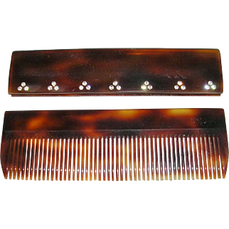 Faux Tortoise Shell Pocket Comb Hand Made Austria