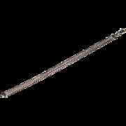 Sterling Silver Herringbone Bracelet