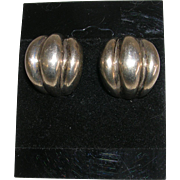 Vintage Modernist Bayanihan Sterling Silver Earrings