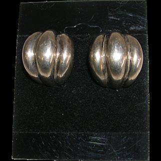 Vintage Modernist Bayanihan Sterling Silver Earrings