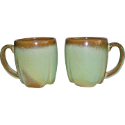 Frankoma Pottery Prairie Green Coffee Cups