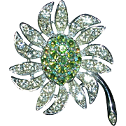 Sarah Coventry Mountain Flower Brooch Pin