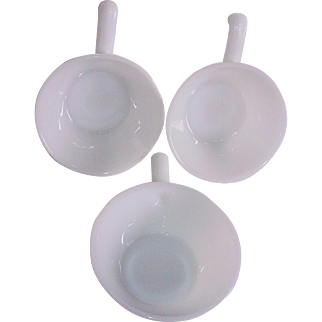 Anchor Hocking Fire King Milk Glass French Casseroles