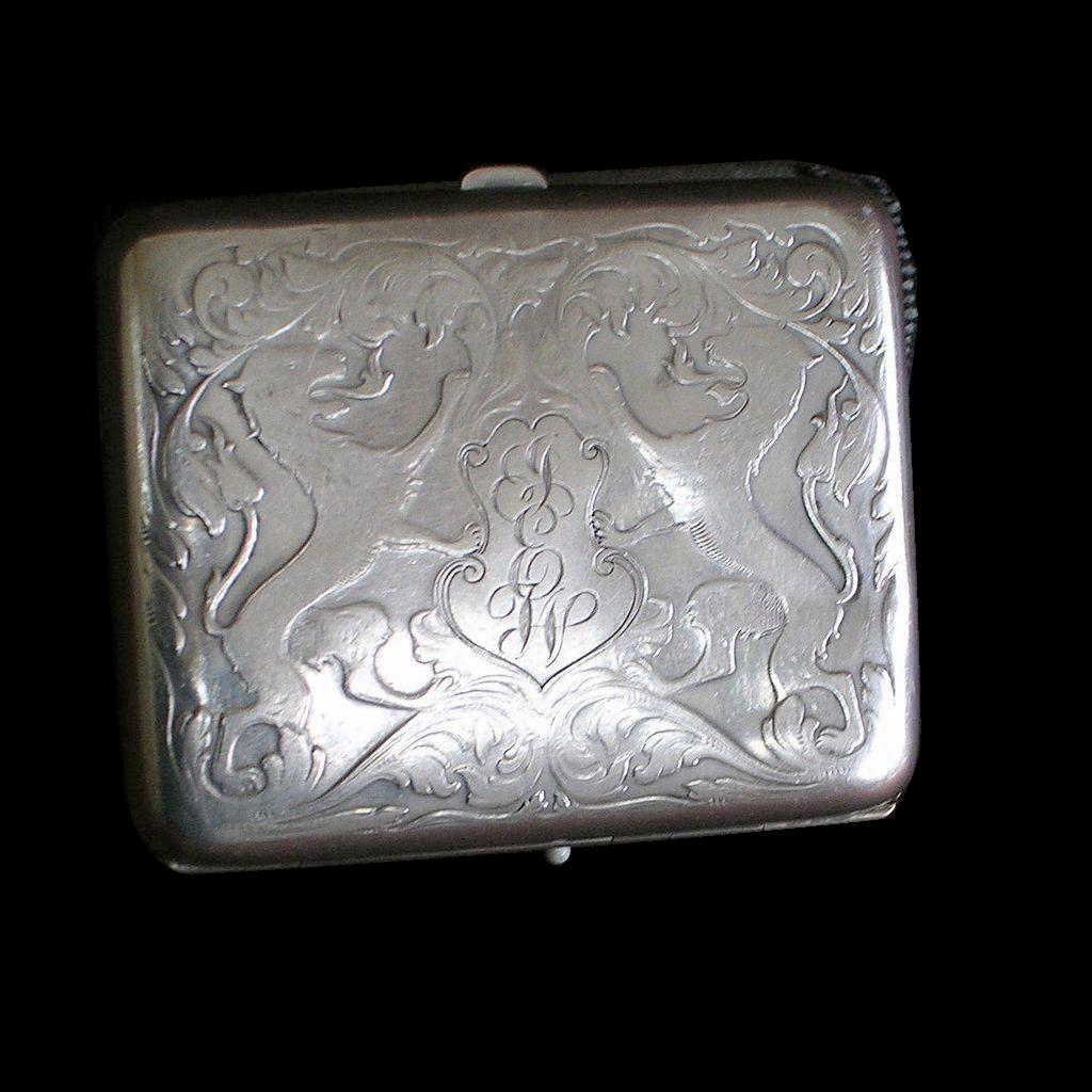 Victorian Sterling Silver Cigarette Case-R Blackinton & Co.