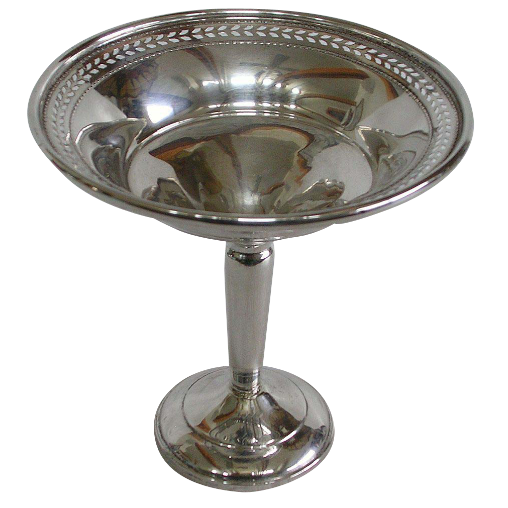 Vintage Hamilton Silver Pierced Sterling Compote