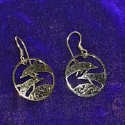 Vintage Wild Bryde Dolphin Earrings