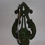 Vintage Cast Iron Wall Mount Receipt or Bill Hook