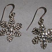 Vintage Diamond Cut Snowflake Earrings