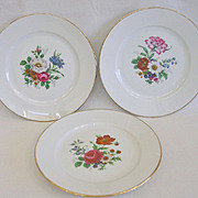 Mid Century JKW Rosenthal Floral Dessert Plates Double Marks