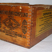 Early 20th Century Climax Welding Compound Rough Sawn Dovetailed Box