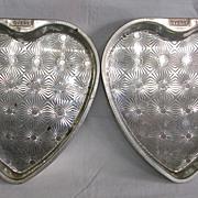Vintage Ekco Ovenex Starburst Heart Shaped Cake Pans