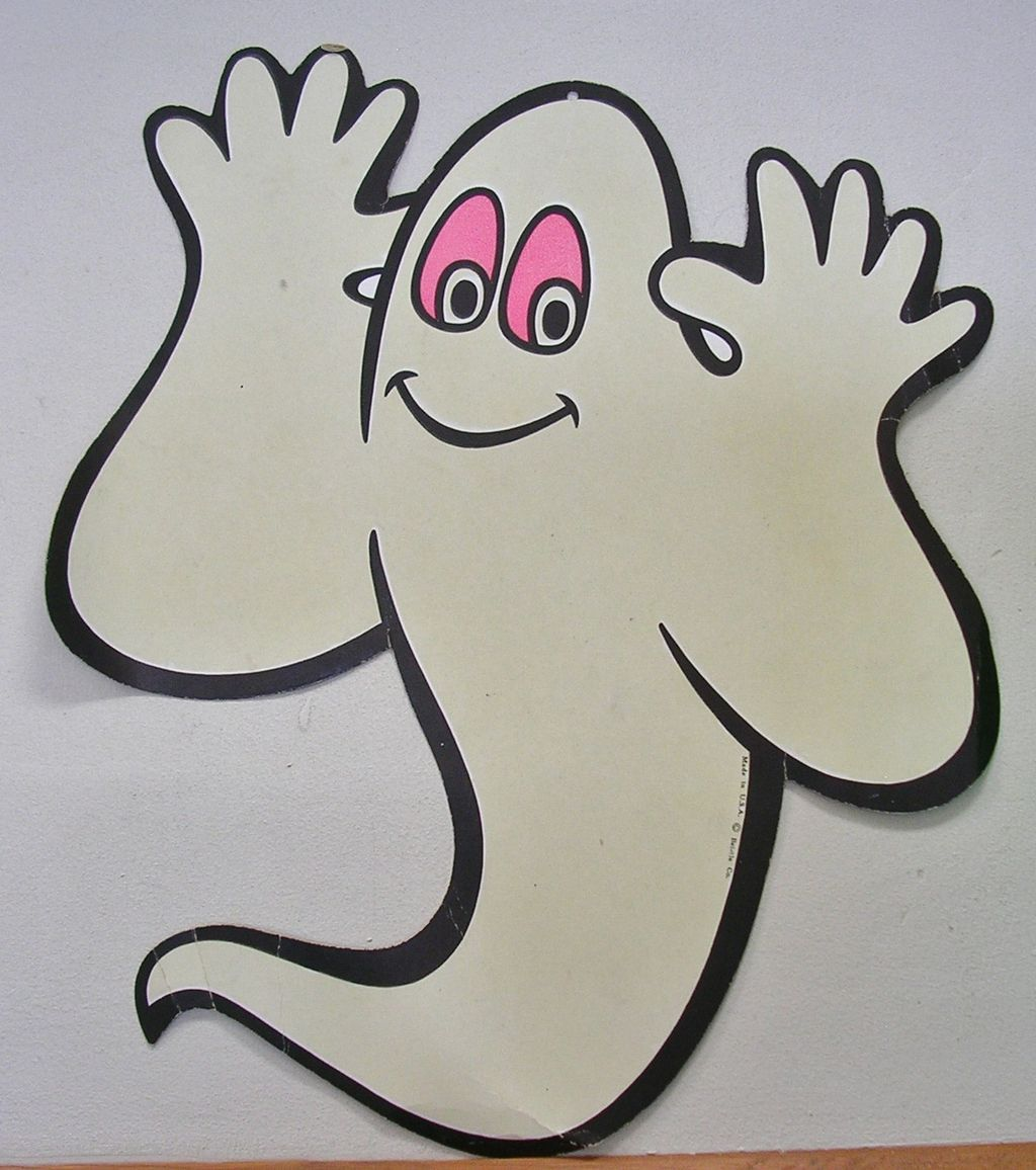 Vintage beistle halloween decorations - Vintage Beistle Die Cut Glow In The Dark Halloween Ghost
