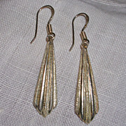 Egyptian Revival Style Sterling Silver Earrings